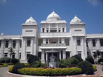 Jaffna - Jaffna Public Library. Construction began in 1933.