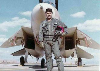 Jalil Zandi - Zandi with F-14 Tomcat