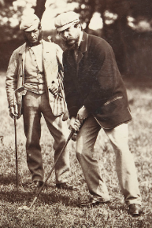 James Ogilvie Fairlie - Image: James Ogilvie Fairlie (left) and Old Tom Morris (right)