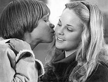 Anderson with Lance Kerwin in the television film, James at 15 (1977)
