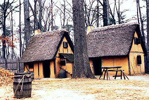Jamestown Settlement - Image: Jamestown VA houses