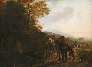 Landscape with Mounted Figures