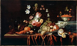 Still Life with Fruit, Flowers and Crayfish