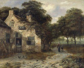 Jan Wijnants - A Farmer's House, Rijksmuseum Amsterdam