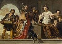 Jan de Bray, Achilles wśród córek Likomedesa (Owidiusz, Metamorfozy).jpg
