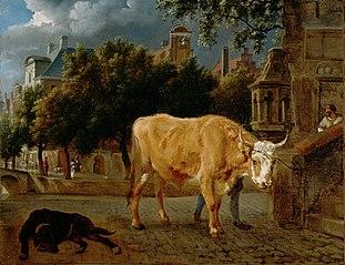 Bull in a City Street
