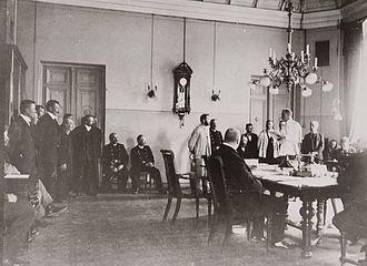 Jānis Čoke - Jānis Čoke (middle) in court