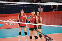 Japan women's national volleyball team at the 2012 Summer Olympics (7914030090).jpg