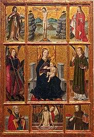 Retaulet amb la Mare de Déu i sants