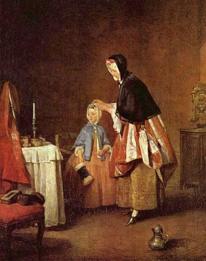 1740 in art - Chardin, The Morning Toilette