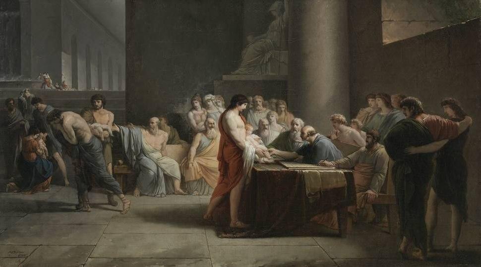 Jean-Pierre Saint-Ours - Gericht über die Neugeborenen Spartas - 2358 - Bavarian State Painting Collections