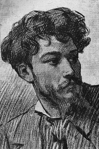 Jean Aicard - Jean Aicard, sketch by Félix Régamey, ca. 1878.