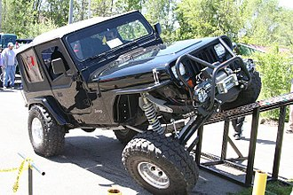 Ramp travel index - Modified Jeep ramping an RTI ramp
