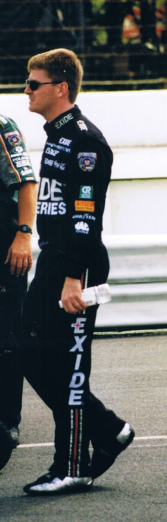 Jeff Burton - Jeff Burton walks to his car for qualifying at Pocono Raceway 1998
