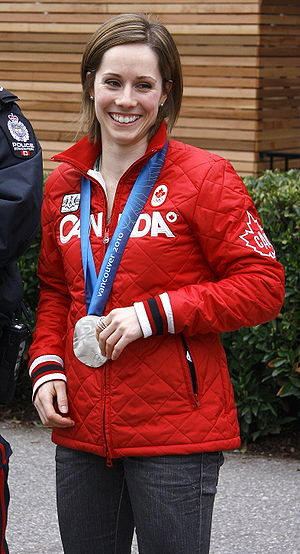 Jennifer Heil - Heil with her 2010 Winter Olympics silver medal