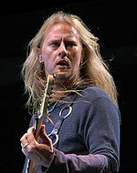 Jerry Cantrell is a co-founder of the band. He is credited, along with Staley, with creating the band's unique sound.