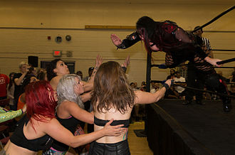 Jessicka Havok - Jessicka Havok executing a suicide dive