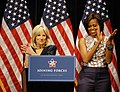 """Jill Biden speaks about the White House's """"Joining Forces"""" military family support campaign, 2011.jpg"""