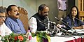 Jitendra Singh and the Minister of State for Home Affairs, Shri Hansraj Gangaram Ahir addressing a press conference, after their two-day visit to J&K in the wake of the terror attack on Amarnath Yatries, in Srinagar.jpg