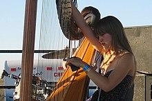 Joanna Newsom at the Sasquatch Music Festival, Washington. May 2005. 2005. Photo Shawn Anderson.
