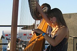 Joanna Newsom in concerto a Washington, 2005