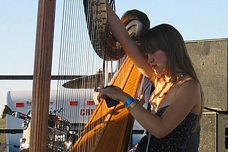 Joanna Newsom - Newsom at the Sasquatch! Music Festival, Washington, May 2005.