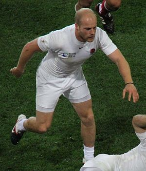 Joe Simpson (rugby union, born 1988) - England vs Georgia at 2011 Rugby World Cup