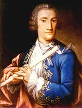 Johann Joachim Quantz jouant de la flûte