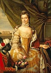 Johann Georg Ziesenis: Queen Charlotte (1744-1818) when Princess Sophie Charlotte of Mecklenburg-Strelitz