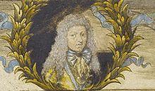 Neue Clavier-Übung 1689, Portrait von Kuhnau auf der Titelseite (Quelle: Wikimedia)