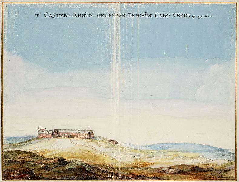 File:Johannes Vingboons - 't casteel Argijn geleegen benoorde Cabo Verde op 20 graden.jpg