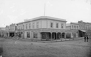 John Duthie (politician) - John Duthie's ironmonger shop in Whanganui in the 1870s