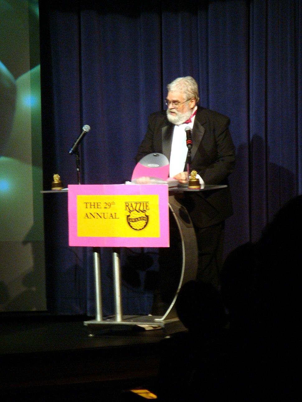 John Wilson at 29th Razzie Awards