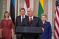 Joint Press Conference by the Baltic presidents and the Vice President of United States (36150356191).jpg