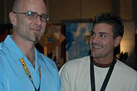 Jon Dough, Michael Stefano at 2005 AEE Thursday 2.jpg