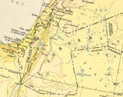 Contemporary map, 1955