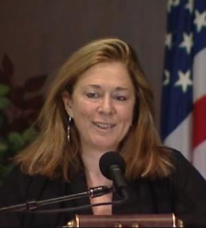 Jorie Graham - Jorie Graham, speaking at a poetry reading in 2007