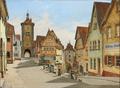 Josef Theodor Hansen - Plönlein. Gadeparti i Rothenburg o. T. - 1910.png