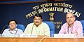Jual Oram addressing after launching the e-book of the Ministry, in New Delhi. The Secretary, Ministry of Tribal Affairs, Shri Arun Jha and the Additional Director General, PIB, Shri K.S. Dhatwalia are also seen.jpg