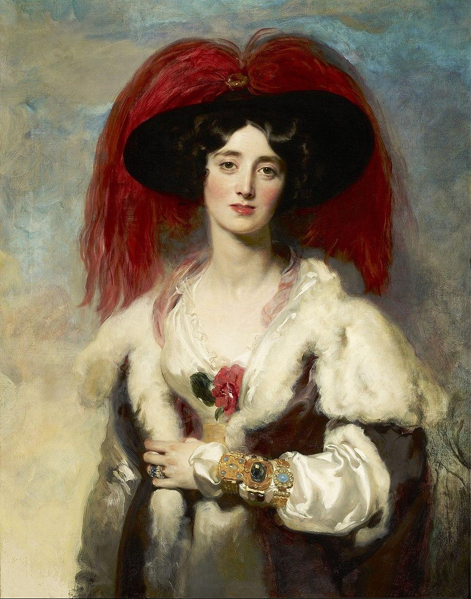 Julia, Lady Peel - Lawrence 1827