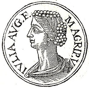 Julia the Elder - Julia from Guillaume Rouillé's Promptuarii Iconum Insigniorum