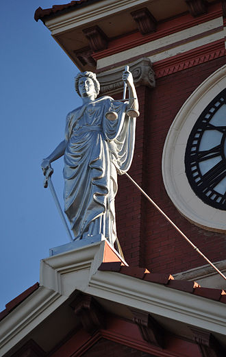 Butler County Courthouse (Kansas) - Image: Justice