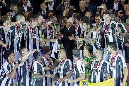 Juventus captain Giorgio Chiellini receives the 2017 Coppa Italia from the  President of Italy Sergio Mattarella 3ce38eac1