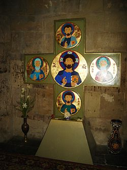 Jvari interior. A cross.JPG