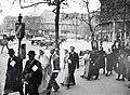 Kálvin tér a református templomtól az Űllői út felé nézve. Háttérben a Nemzeti Múzeum. Fortepan 105168.jpg