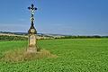 Kříž mezi hospodou Na Pindě a obcí Měrotín, okres Olomouc.jpg