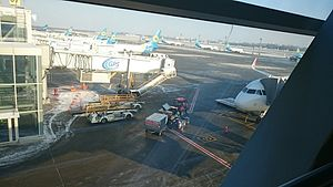 Boryspil International Airport - Apron of Terminal D