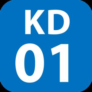 Nagatsuta Station - Image: KD 01 station number
