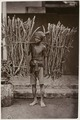 KITLV 28544 - Sem Céphas - Young man carrying two bundles of firewood on a stick over his shoulder, presumably at Yogyakarta - Around 1900.tif
