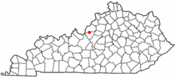 Location of Brooks, Kentucky